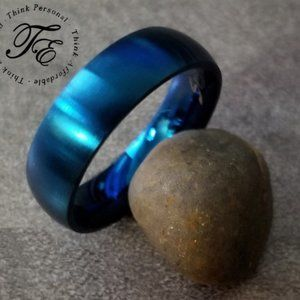 Men's Blue Promise Ring or Wedding Band